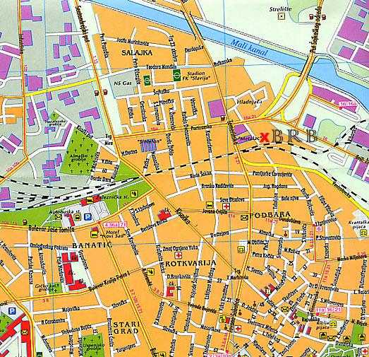 ulice novog sada mapa BRB Novi Sad 063/8 450 250 kovana bravarija ulice novog sada mapa